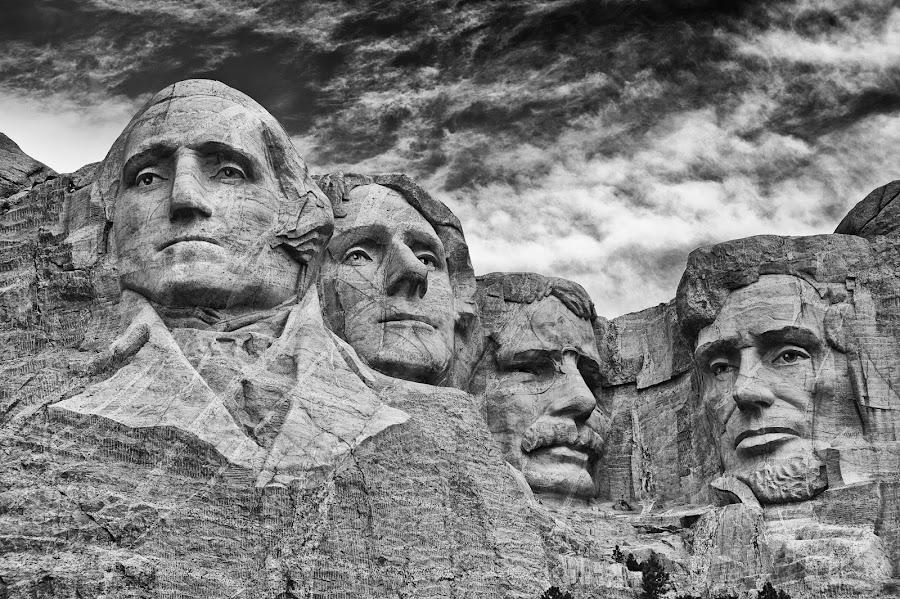 by Bill Frische - Buildings & Architecture Statues & Monuments ( mono-tone, famous landmarks, b&w, black and white, b and w, black and white collection, landscape, monotone,  )