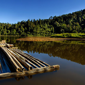 bamboo boats by Pungky K - Transportation Other