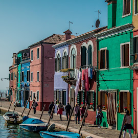 by Mario Horvat - City,  Street & Park  Street Scenes ( houses, touristic, italia, colorful, burano, architecture, travel, italy )