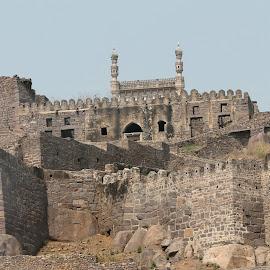 Golkonda fort Hyderabad India  by Niraj Jha - Uncategorized All Uncategorized