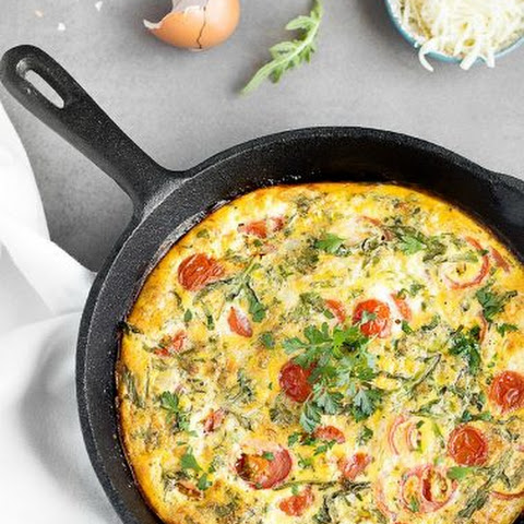 Baked Frittata with Cherry Tomatoes and Arugula