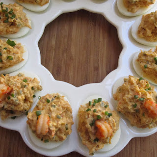 NOLA Crawfish-Stuffed Deviled Eggs