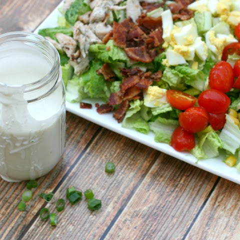 Cobb Salad with Homemade 5-Ingredient Blue Cheese Dressing
