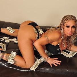 Sexy Jesebel - Show Her The Money by Mick Tobyn - Nudes & Boudoir Boudoir ( long legs, model, derriere, fine art, ass, beauty, make it rain, cute, pretty, babe, caucasian, erotic, glamour, erotica, sexy, girl, gorgeous, woman, stylish, money, booty, butt, milf, cleavage, bootylicious, badonkadonk, boudoir, beautiful, leggy, boobs, hottie, glamourous, sensual, blonde, bum, breasts, cash, hot, legs, hotty, tits, bills )