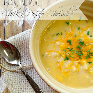Homemade Chicken Potato Chowder-Great Frugal Fall Meal!