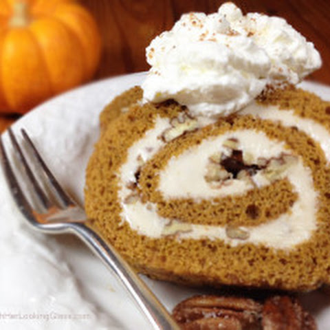Sugared Pecan Maple Pumpkin Roll