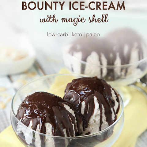 Keto Bounty Ice-Cream with Magic Shell