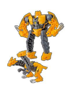 Робот трансформируется в Дракона желтый M
