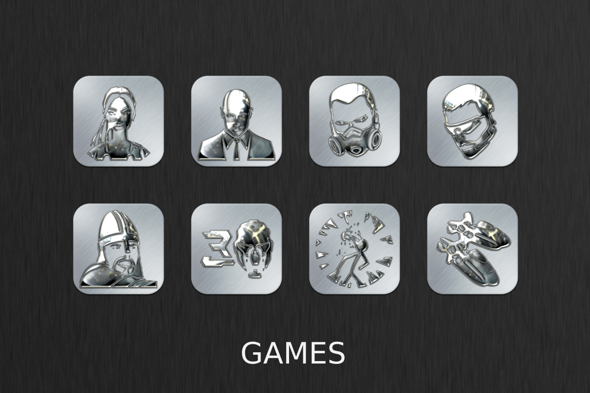 Silver Chrome Icon Pack Screenshot 4