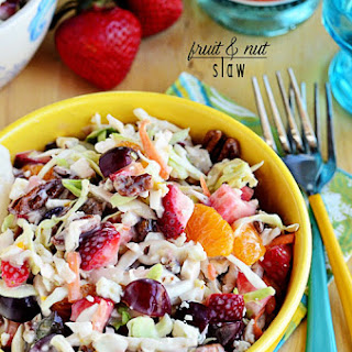 Fruit & Nut Slaw with Blue Cheese