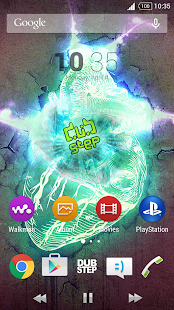 DUBSTEP Theme Xperia - screenshot