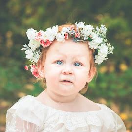Sierra by Jenny Hammer - Babies & Children Babies ( pretty, baby, flower headband, girl, cute )