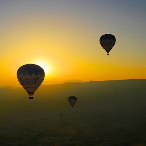 Central Turkey by balloon. by Peter Kennett - Artistic Objects Other Objects ( turkey, balloon, cappadocia )
