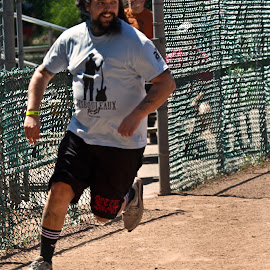 Smile Run by Yves Sansoucy - Sports & Fitness Baseball ( sand, baseball, brow, runner, run )