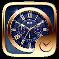 Blue GO Clock Theme APK for Bluestacks