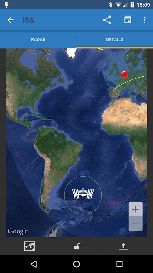 ISS Detector Satellite Tracker Screenshot 4