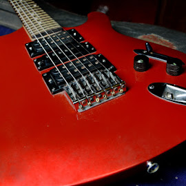 Guitar by Bhaskar Patra - Artistic Objects Musical Instruments ( red guitar )