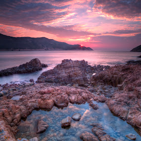 1 Jan 2013 by Anthony Lau - Nature Up Close Rock & Stone ( shore, reflection, hdr, colorful, new year, sea, stone, rock, beach, coast, sky, red, blue, pool, peace, clam, harmony, long exposure, sunrise, hope, garyfonglandscapes, holiday photo contest, photocontest,  )