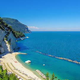 Riviera del Conero - Italy by Emanuele Zallocco - Landscapes Beaches ( relax, tranquil, relaxing, tranquility )
