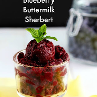 Blueberry Buttermilk Sherbert