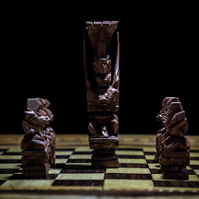 Long live for the king by Alejandro Gonzalez - Artistic Objects Antiques ( ajedrez, chess, dark, board, king )