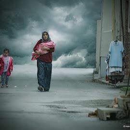 Escape by Helena Georgiou - City,  Street & Park  Street Scenes ( refugees, streetphotography, helenageorgiou )