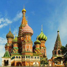 Saint Basil's Cathedral, Moscow  by Zdenka Rosecka - Buildings & Architecture Places of Worship ( red sqeure, church, saint basils, moscow, cathedral )