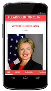 Hillary Clinton 2016 - screenshot