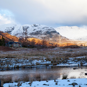 Scottish Winter Scene by Iain Cathro - Novices Only Landscapes ( scotland, mountains, winter, snow, landscape, light )