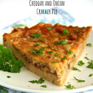 Cheddar and Onion Cracker Pie