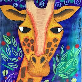 My Giraffe  by Vijay Govender - Drawing All Drawing