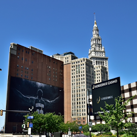 tower central by Tim Hauser - City,  Street & Park  Skylines ( terminal tower, tim hauser, tim hauser photography, tower city, cleveland ohio )