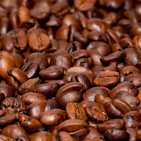 coffee beans by Vincenzo Bernardi - Food & Drink Alcohol & Drinks ( cup, naples, coffee machine, aroma, bean, espresso, drop, coffee, spoon, prepare, break, macro, coffea arabica, liquid, food, background, bark, mixture, coffee foam,  )