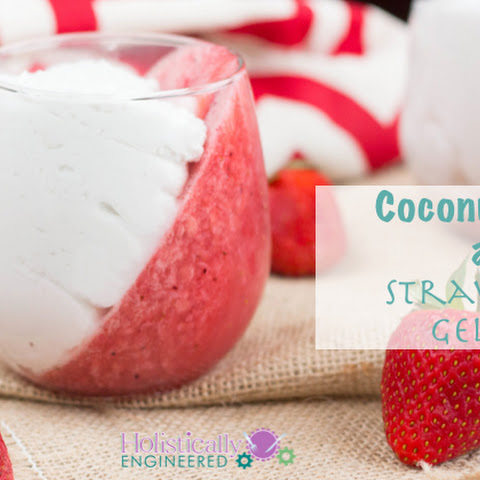Coconut Cream and Strawberry Gelatin
