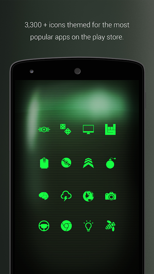 PipTec Pro - Green Icons & Live Wallpaper Screenshot 3