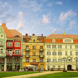 Old home building and bank by Viorel Stanciu - Buildings & Architecture Homes ( offices, bank, home building, romania, timisoara )