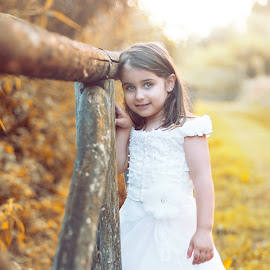 Sophie by Omar Ciamberlano - Babies & Children Child Portraits ( girl, tree, gorgeous, texture, woman, green, toys, trees, travel, flower, wonderful, eyes )