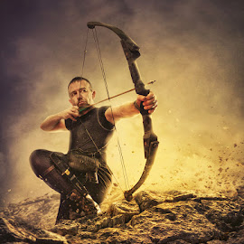 The Archer by Armed Armedia - Digital Art People ( digital art, dramatic, dark )