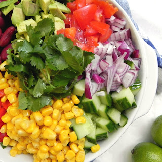 Colorful Chopped Rice Salad
