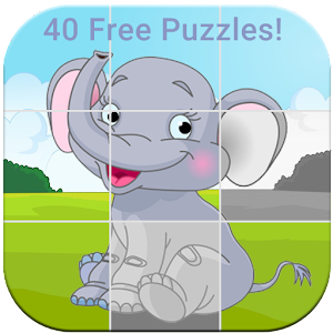 Animals Puzzle for kids No ads