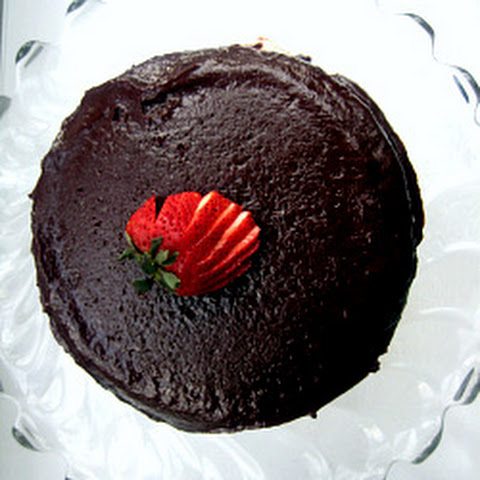 Warm Chocolate Raspberry Pudding Cake
