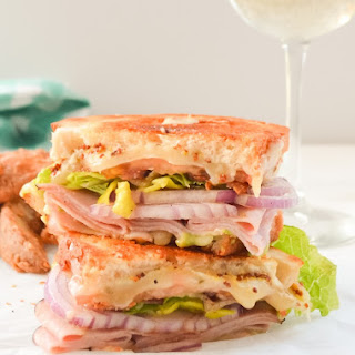 Loaded Sharp Cheddar and Black Forest Ham Grilled Cheese Sandwich #SundaySupper
