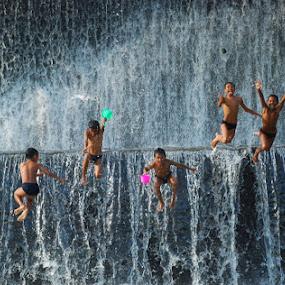 Jump by Yande Ardana - Babies & Children Children Candids ( bali, unda river, human interest )