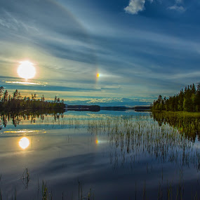 Halo around the sun by Rose-marie Karlsen - Landscapes Weather ( , reflection, reflections, people, places, architecture, building, World_is_Blue, garyfonglandscapes, holiday photo contest, photocontest )