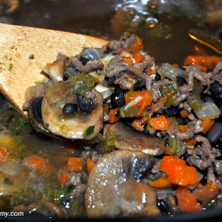 Vegetable Beef and Black Bean Soup