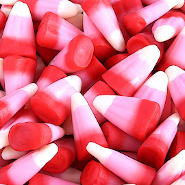 Valentine Candy Corn by Jodi Zimmer - Food & Drink Candy & Dessert ( red, valentines, candy, candycorn, pink, sugar )
