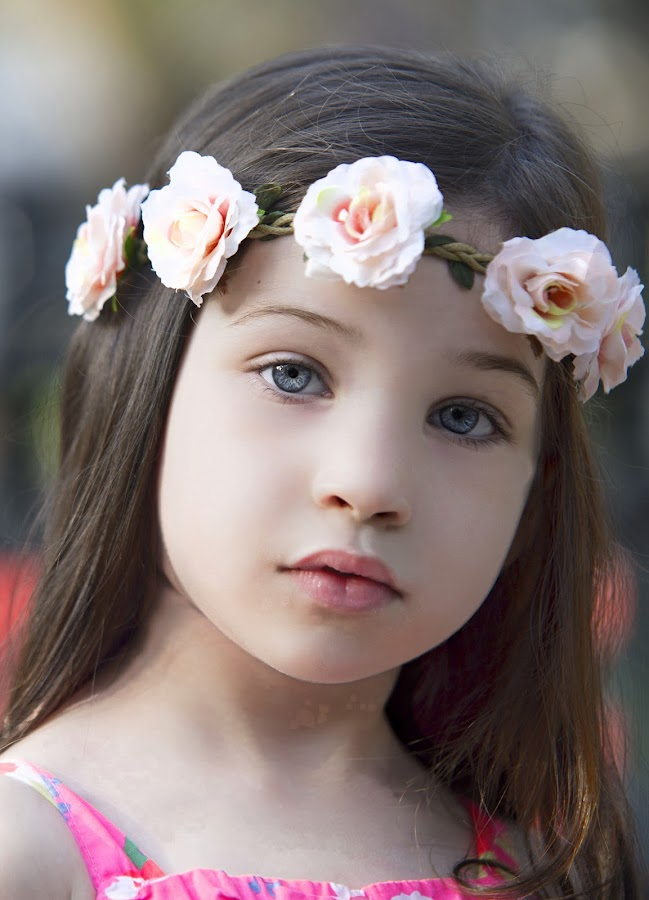 Flower Baby by Sylvester Fourroux - Babies & Children Child Portraits