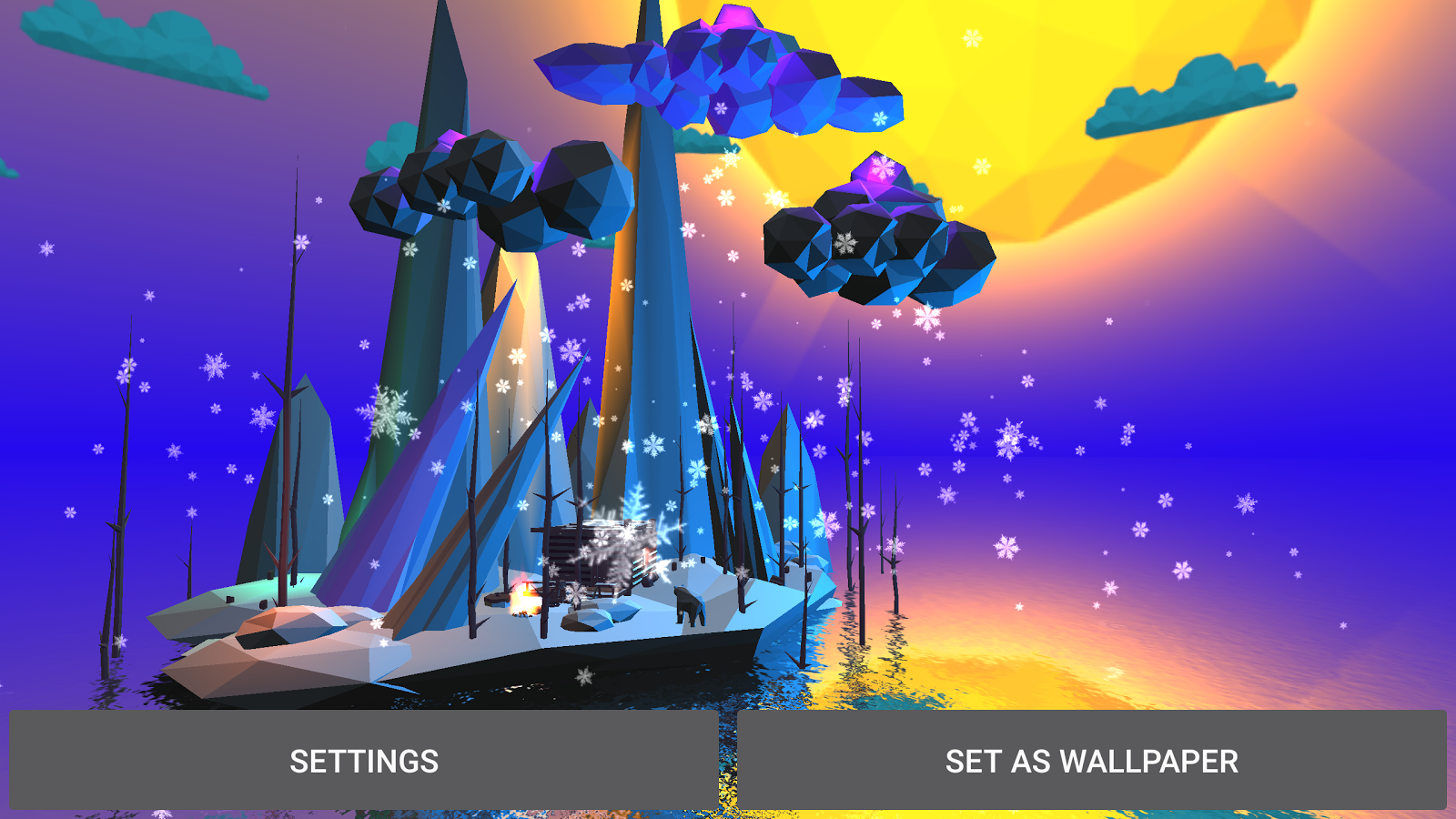 Poly Island 3D Live Wallpaper Screenshot 13