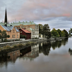 My lovely hometown Arboga sweden by Stefan Pettersson - City,  Street & Park  Neighborhoods ( arboga sweden river church view )