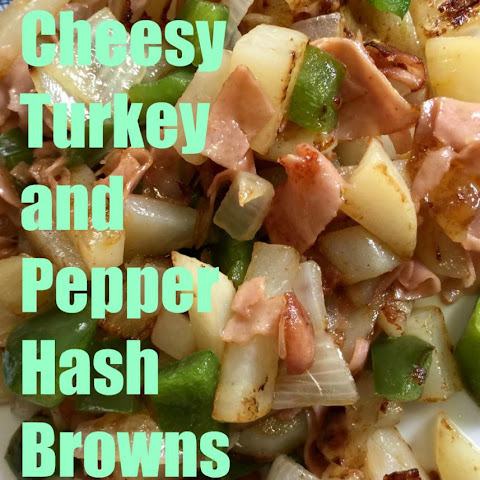 Cheesy Turkey and Pepper Hash Browns